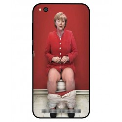 Durable Angela Merkel On The Toilet Cover For Xiaomi Redmi 5a