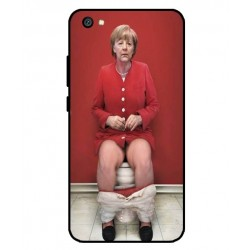 Durable Angela Merkel On The Toilet Cover For Xiaomi Redmi Y1 Lite
