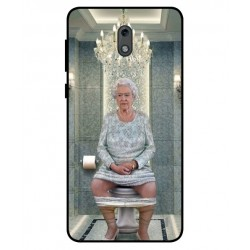 Durable Queen Elizabeth On The Toilet Cover For Nokia 2
