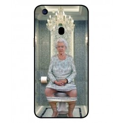 Durable Queen Elizabeth On The Toilet Cover For Oppo F5