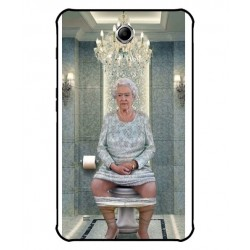 Durable Queen Elizabeth On The Toilet Cover For Samsung Galaxy Tab 4 Active