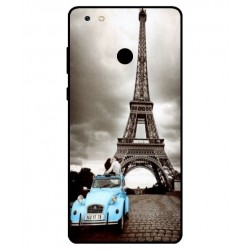 Durable Paris Eiffel Tower Cover For Gionee M7 Power