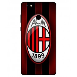 Durable AC Milan Cover For Gionee M7 Power