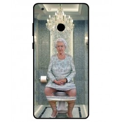 Durable Queen Elizabeth On The Toilet Cover For Gionee M7 Power