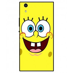 Durable SpongeBob Cover For Sony Xperia R1 Plus