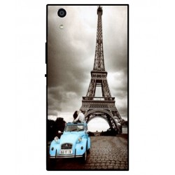 Durable Paris Eiffel Tower Cover For Sony Xperia R1 Plus
