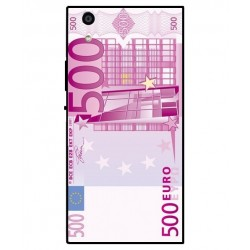 Durable 500 Euro Note Cover For Sony Xperia R1 Plus