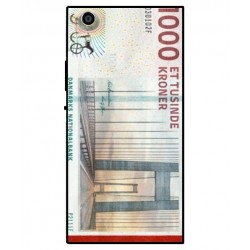 1000 Danish Kroner Note Cover For Sony Xperia R1 Plus