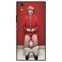 Durable Angela Merkel On The Toilet Cover For Sony Xperia R1 Plus
