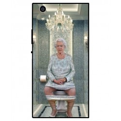 Durable Queen Elizabeth On The Toilet Cover For Sony Xperia R1 Plus