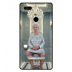 Durable Queen Elizabeth On The Toilet Cover For Archos Diamond Omega