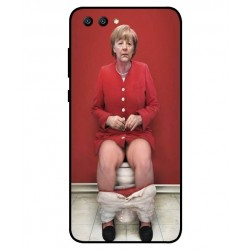 Coque De Protection Angela Merkel Aux Toilettes Pour Huawei Honor View 10