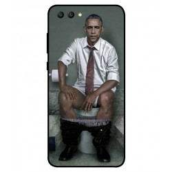 Coque De Protection Obama Aux Toilettes Pour Huawei Honor View 10