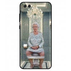 Durable Queen Elizabeth On The Toilet Cover For Huawei Honor View 10