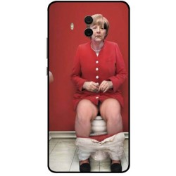 Durable Angela Merkel On The Toilet Cover For Huawei Mate 10