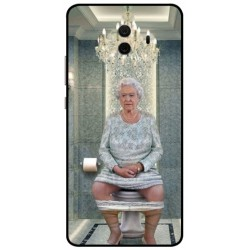 Durable Queen Elizabeth On The Toilet Cover For Huawei Mate 10