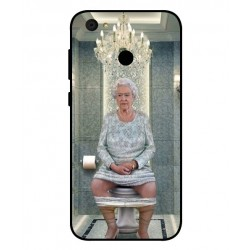 Durable Queen Elizabeth On The Toilet Cover For ZTE Blade A6
