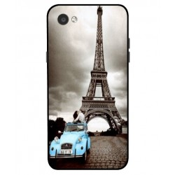 Durable Paris Eiffel Tower Cover For LG Q6