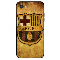 Durable FC Barcelona Cover For LG Q6