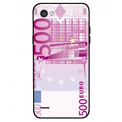 Durable 500 Euro Note Cover For LG Q6