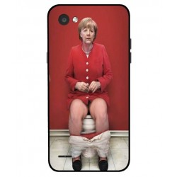 Durable Angela Merkel On The Toilet Cover For LG Q6