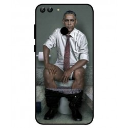Durable Obama On The Toilet Cover For Huawei P Smart
