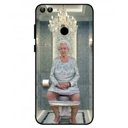 Durable Queen Elizabeth On The Toilet Cover For Huawei P Smart