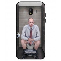 Durable Vladimir Putin On The Toilet Cover For Samsung Galaxy J2 Pro 2018