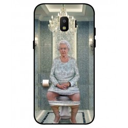 Durable Queen Elizabeth On The Toilet Cover For Samsung Galaxy J2 Pro 2018