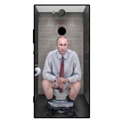 Durable Vladimir Putin On The Toilet Cover For Sony Xperia XA2