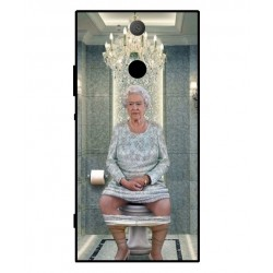 Durable Queen Elizabeth On The Toilet Cover For Sony Xperia XA2