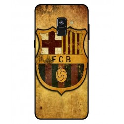 Durable FC Barcelona Cover For Samsung Galaxy A8 2018