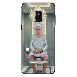 Durable Queen Elizabeth On The Toilet Cover For Samsung Galaxy A8 Plus 2018