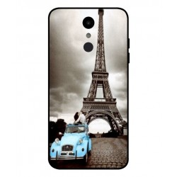Durable Paris Eiffel Tower Cover For LG Aristo 2