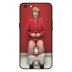 Durable Angela Merkel On The Toilet Cover For Oppo A71 2018