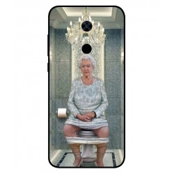 Durable Queen Elizabeth On The Toilet Cover For Xiaomi Redmi Note 5
