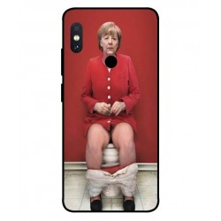 Durable Angela Merkel On The Toilet Cover For Xiaomi Redmi Note 5 Pro