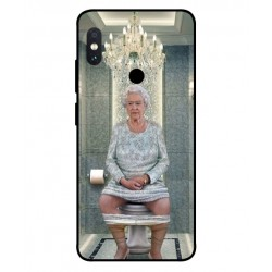Durable Queen Elizabeth On The Toilet Cover For Xiaomi Redmi Note 5 Pro