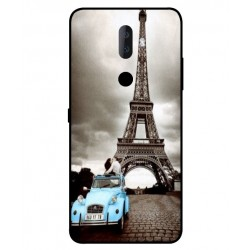 Durable Paris Eiffel Tower Cover For Alcatel 3v