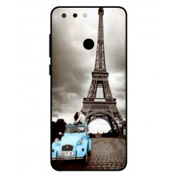 Durable Paris Eiffel Tower Cover For ZTE Blade V9