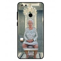 Durable Queen Elizabeth On The Toilet Cover For ZTE Blade V9