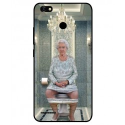 Durable Queen Elizabeth On The Toilet Cover For ZTE Blade A3