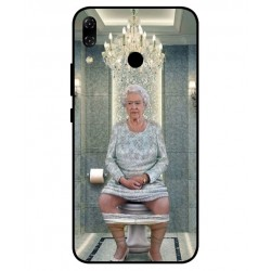 Durable Queen Elizabeth On The Toilet Cover For Asus Zenfone 5z ZS620KL