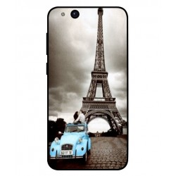 Durable Paris Eiffel Tower Cover For ZTE Tempo Go