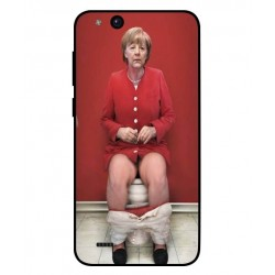 Durable Angela Merkel On The Toilet Cover For ZTE Tempo Go