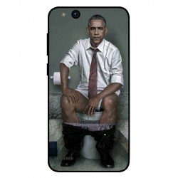 Durable Obama On The Toilet Cover For ZTE Tempo Go
