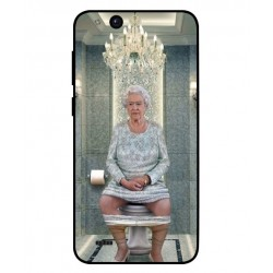 Durable Queen Elizabeth On The Toilet Cover For ZTE Tempo Go