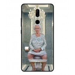 Durable Queen Elizabeth On The Toilet Cover For Nokia 7 Plus