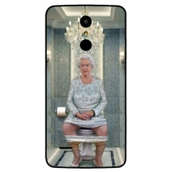 Durable Queen Elizabeth On The Toilet Cover For LG K8 2017 Dual SIM