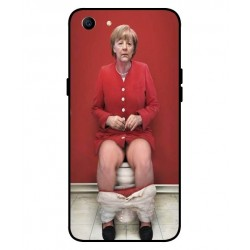 Durable Angela Merkel On The Toilet Cover For Oppo A1